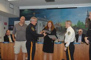 Capt. Gerard Paris Receiving Award