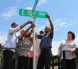 Roselle Honors Rev. Milton A. Byrd with Street Sign, photo 3