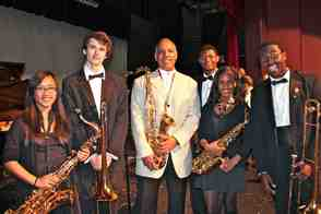Don Braden and members of the WOHS Jazz Band