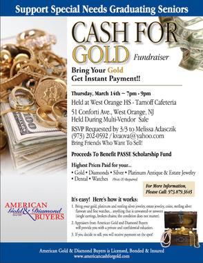 Cash for Gold Fundraiser Flyer
