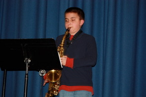 Devdutt Nadkarni, 5th grader, played the The Pink Panther Theme on saxophone