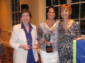 (left to right) Marcia Nebel, Beth Levithan and Rita Isaacs pictured after receiving their awards at the NCJW/Essex Annual Installation and Awards Evening at The Club at Orange Lawn.