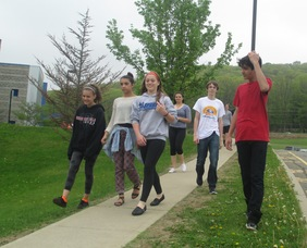 Lori Chesbaugh's Phys Ed Classes Held a Walk-a-thon