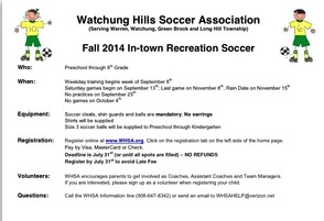 Register for Fall Soccer in Warren by July 31, photo 1