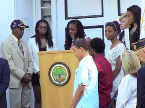 SPFHS Black Student Union congratulates Tuskegee Airman Malcolm Nettingham