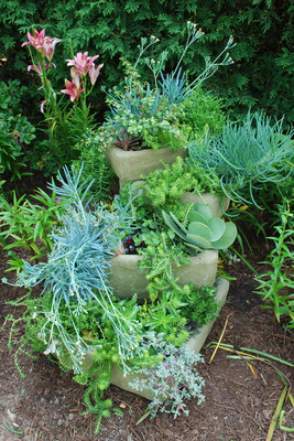 Stacked Troughs and Pots