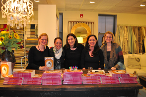 """I Just Want to Pee Alone"" authors Kim Bongiorno, Bethany Thies, Anna Sandler, Kim Forde and Amy Bozza"
