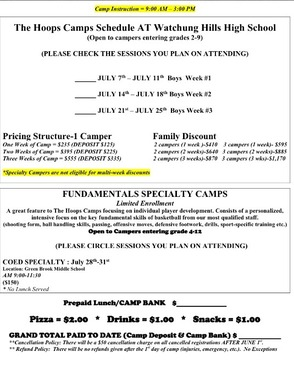 Registration Is Still Open For The Hoops Camp At Watchung Hills, photo 3