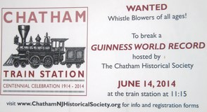 Puff Up Your Cheeks and Blow That Whistle; Chatham Tries for Guinness Book of World Records, photo 1