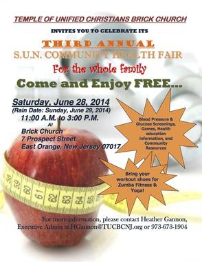 The Temple of Unified Christians Brick Church Hosts Family Health Fair, photo 1