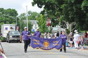 The Elks lead up the parade.