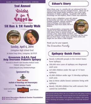 "Second Annual ""Strides for Hope"" to be Held April 6 to Help Overcome Pediatric Epilepsy, photo 2"