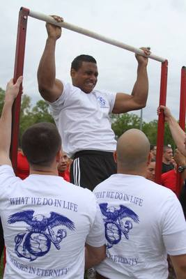 BRHS Reaches More Than 500 Pull-Ups in Basilone Bowl Spirit Competition, photo 1