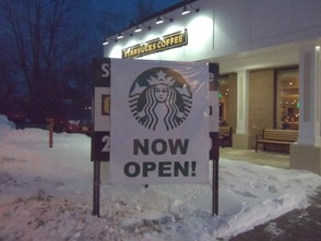 Starbucks Grand-Opening Sign