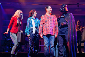he Other Josh Cohen at Paper Mill Playhouse; From left to right: Hannah Elless, Kate Wetherhead, Steve Rosen, Ken Triwush, and David Rossmer.