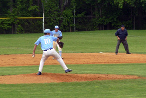 SPFHS pitcher Christian Isolda delivers a pitch