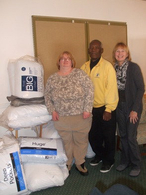 Townley Church in Union Donates Pillows for Willow Grove Church Shelter Program