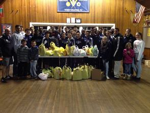 WOHS Boys Soccer at MTL Food Drive