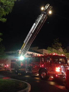 Two-Alarm Roof Fire at Assi Market in Montgomery Township