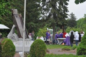 Survivors at the Sept 11 Memorial.