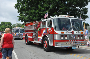 Approximately eight Sparta Fire Engines made a showing at the parade.