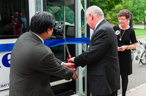 Seton Hall University Holds Ribbon-Cutting Ceremony for SafeRide Shuttle, photo 3