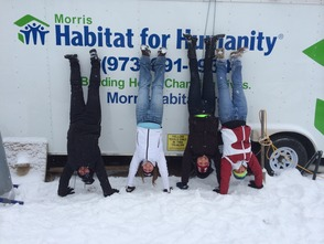 Morris Habitat for Humanity Volunteers Having a Good Time Doing Good Deeds!!