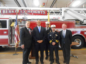 Sen. Cory Booker and Rep. Leonard Lance Visit Berkeley Heights To Present $185,360 Federal Grant For Firefighter Assistance, photo 2