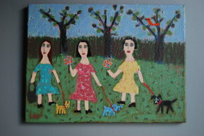 Three Dogs by Sari Azaria