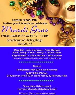 Central School PTO Invites The Community To Celebrate Mardi Gras On March 7, photo 2