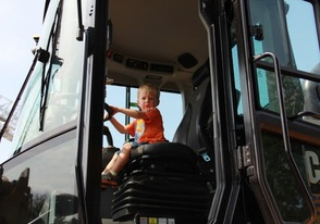Alex Kazio in the Huge Front Loader