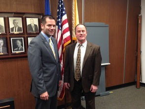 Municipal Manager Giaimis and Councilman Marcus