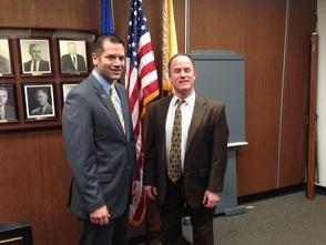 Municipal Manager Giaimis and Councilman Marcus