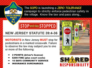 South Orange Public Safety Committee Planning Pedestrian Safety Campaign, photo 1