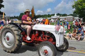 One of the tractors on parade.