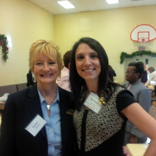 Left, Robbin Salmeri, owner of Cleaners Advantage, a Delivery Dry Cleaning Service and Stephanie Conley, Executive Director of Dress for Success/Morris County
