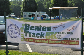 The banner that greeted race participants.