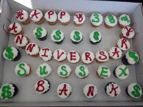 Franklin Branch cupcakes to share with employees and customers.
