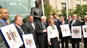 Dedication of Gov. Brendan Byrne Statue