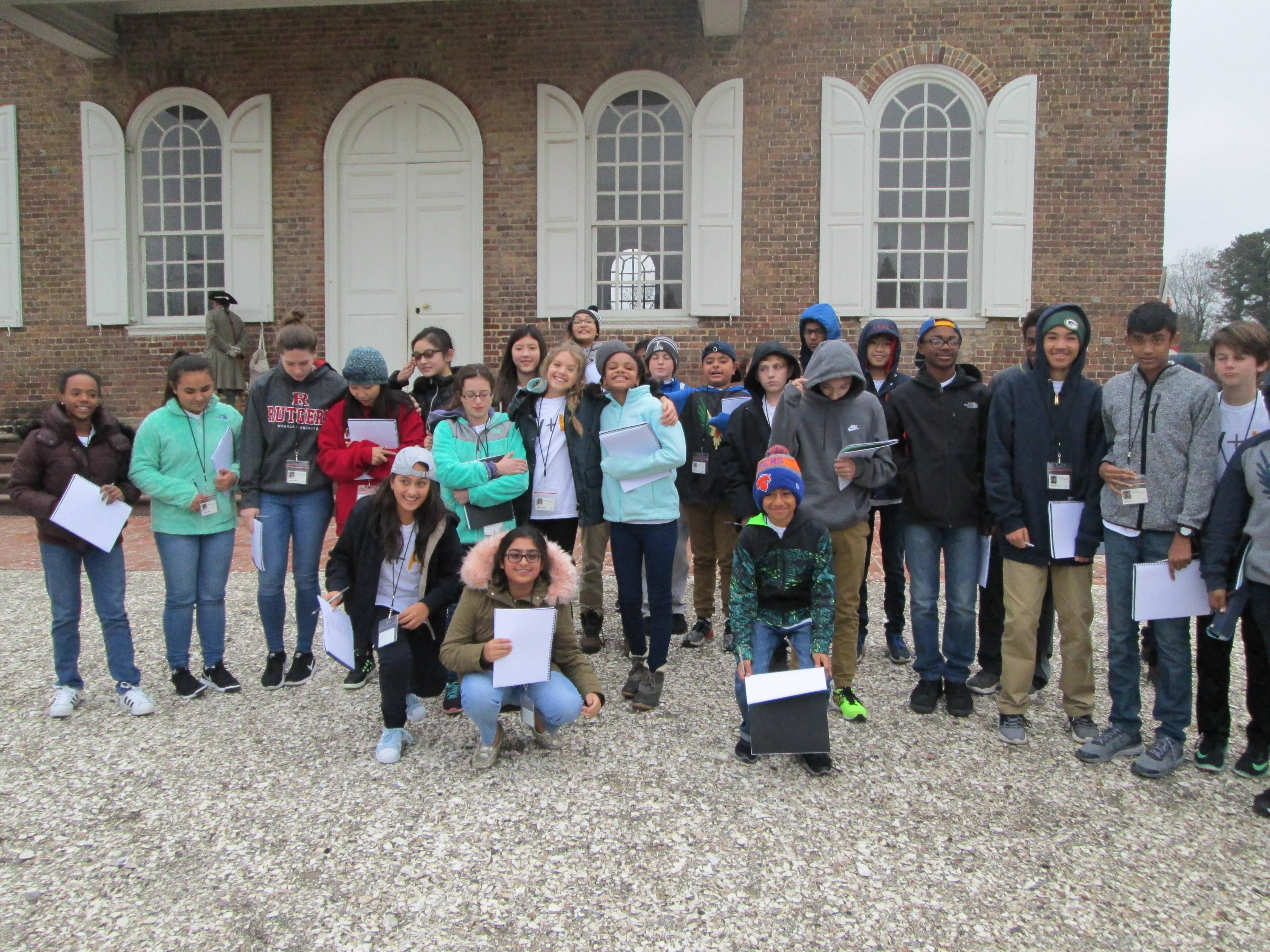wardlawhartridge seventh graders explore colonial