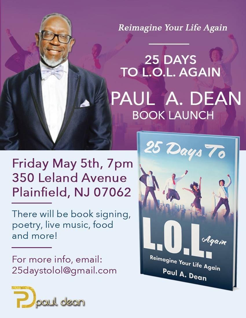 Paul Dean Book Launch 25 Days To L O L Again Plainfield Nj News Tapinto