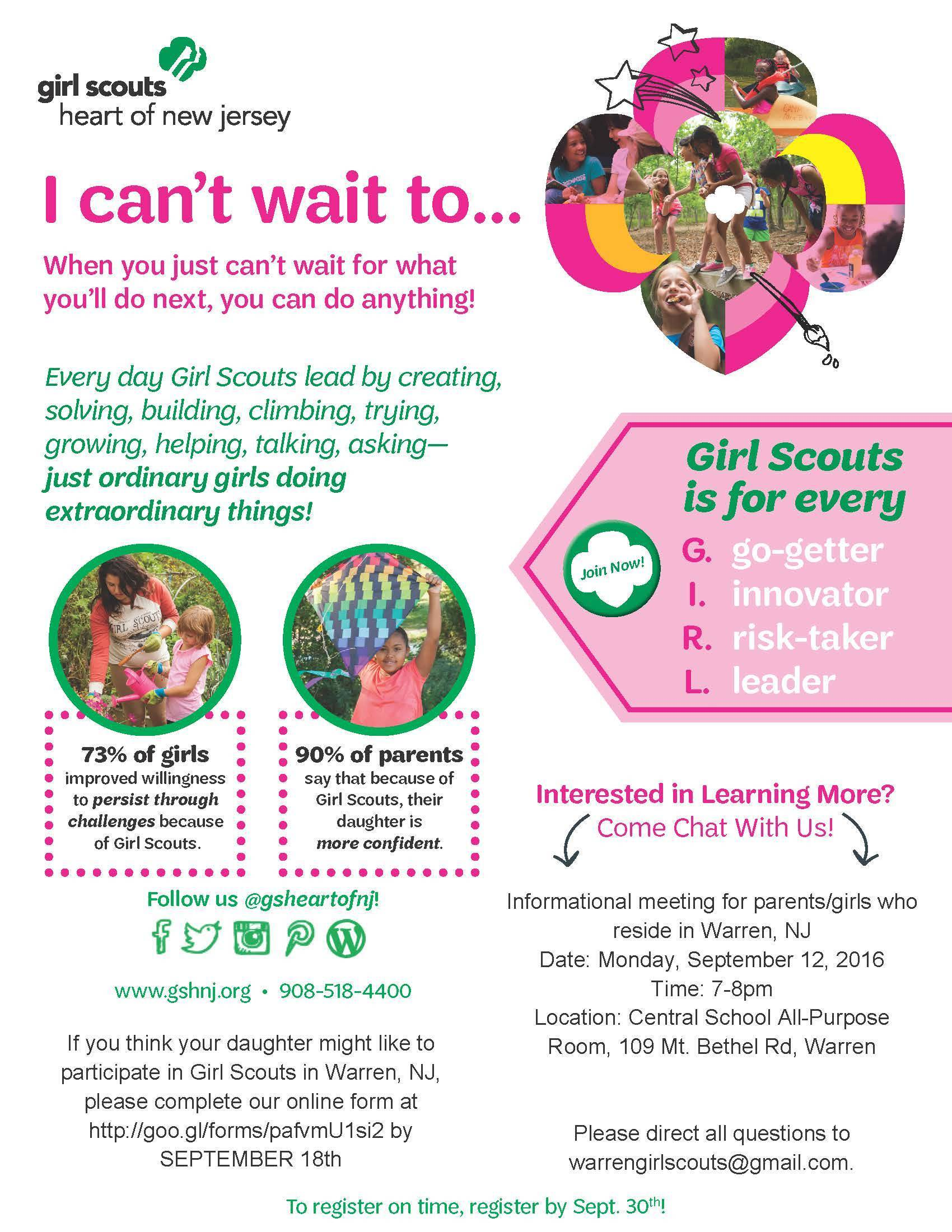 Warren Girl Scout Registration Night - News - TAPinto