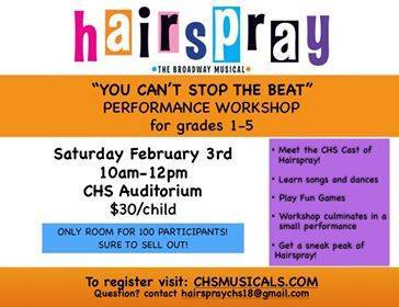 39 you can 39 t stop the beat 39 performance workshop for grades 1 to 5 with the columbia h s - Alternative uses of hairspray ...