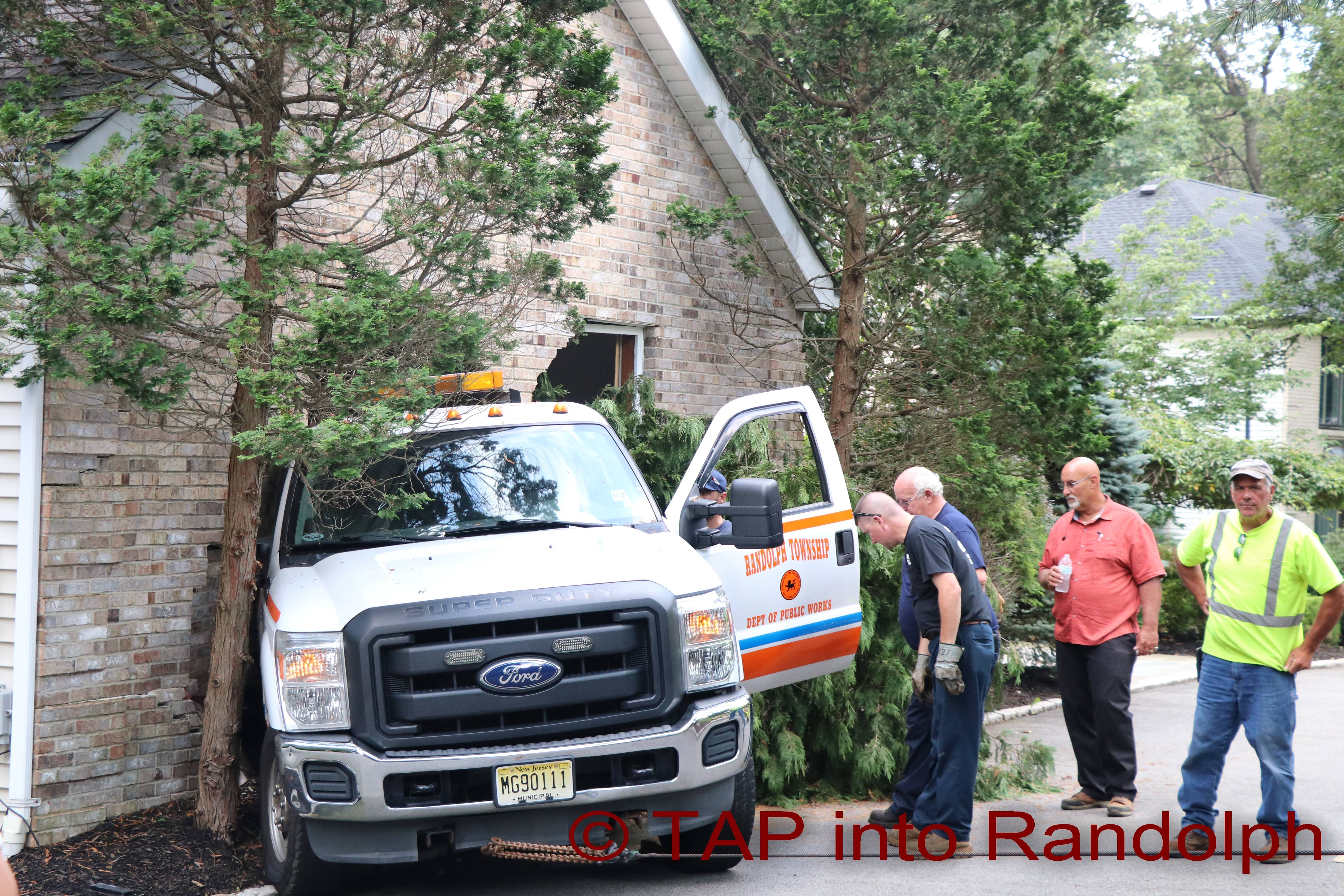 Runaway Vehicle Crashes Into House Randolph Police And