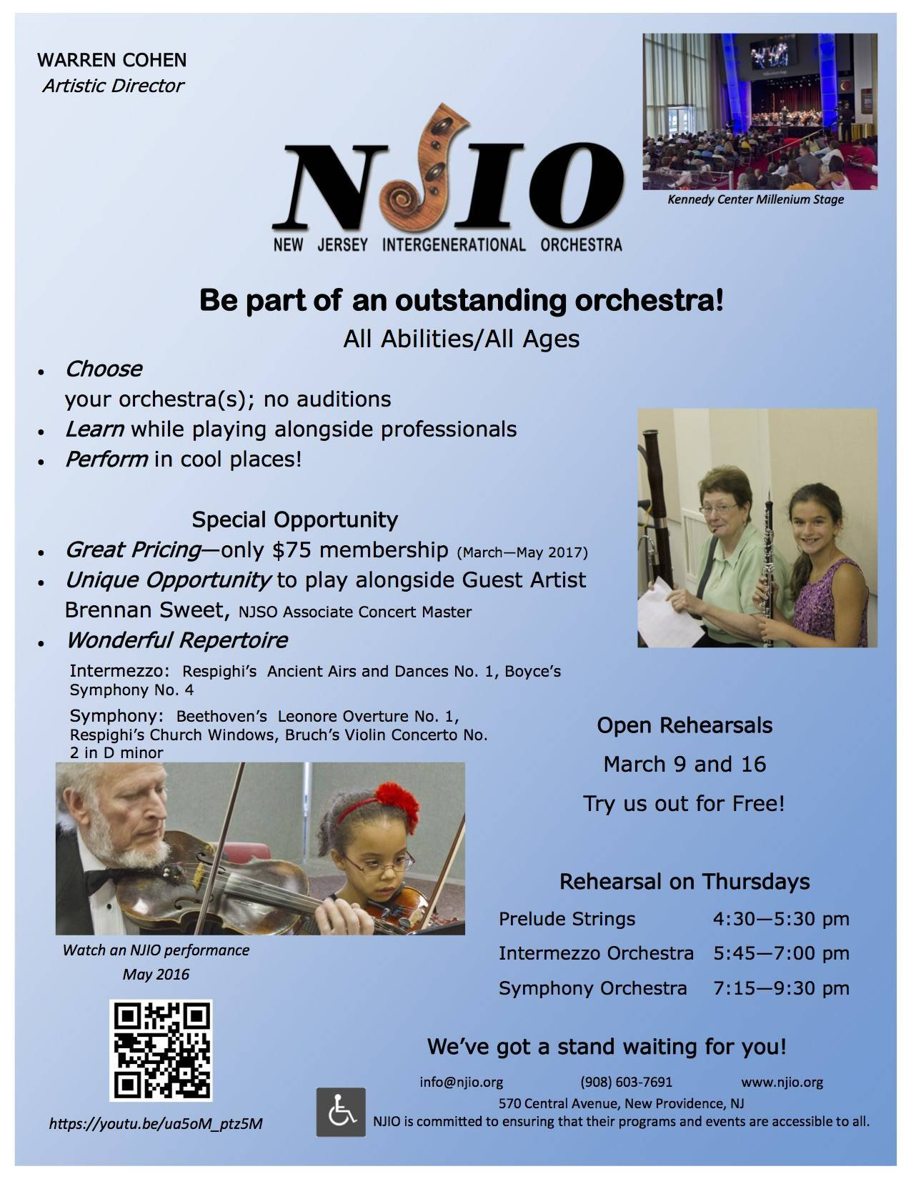Image result for new jersey intergenerational orchestra