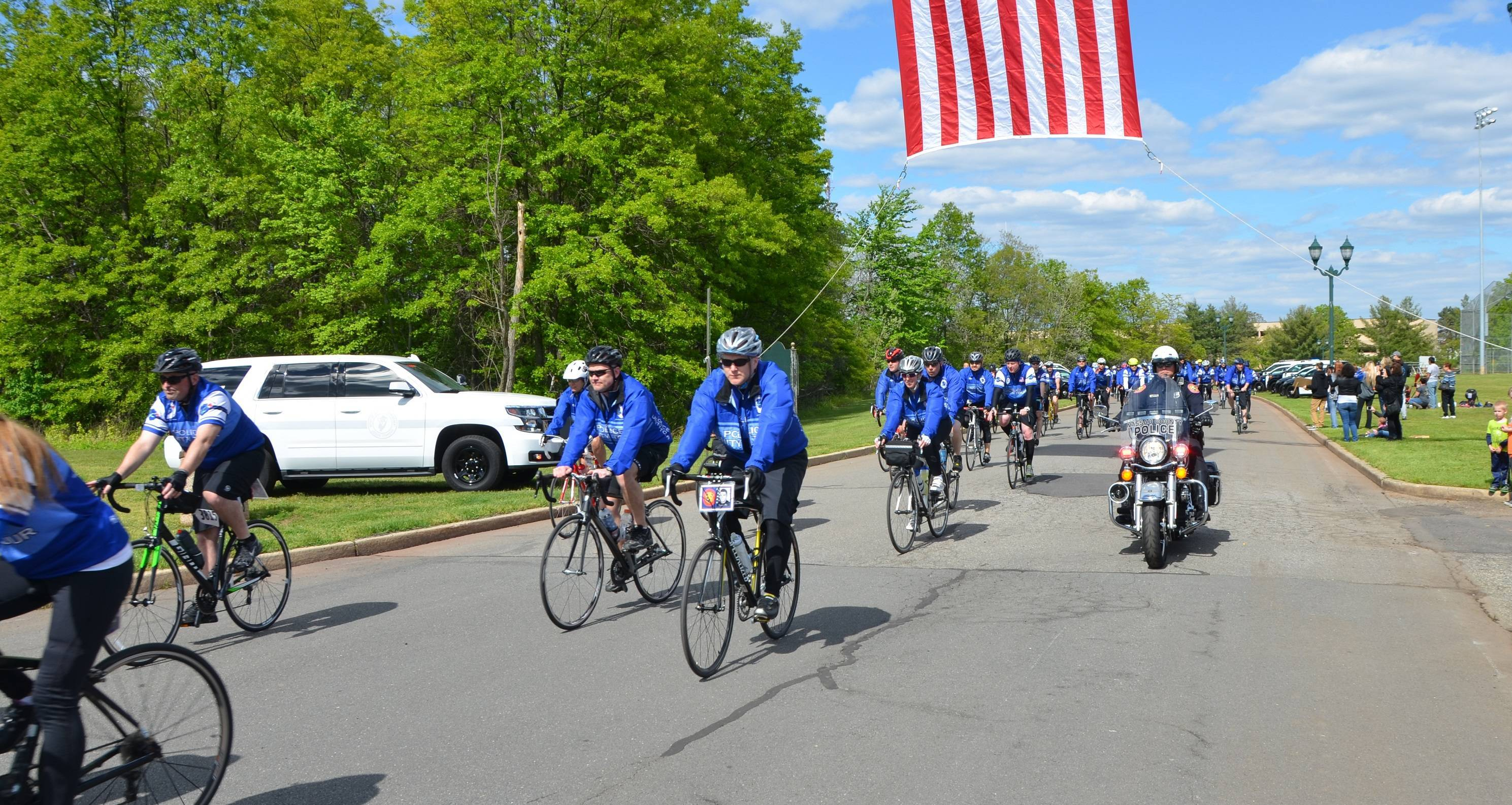 Police unity tour riders visit the edison municipal for Police tours