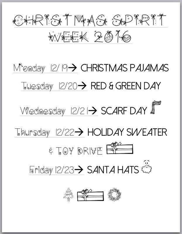 get ready for christmas spirit week at nutley high school