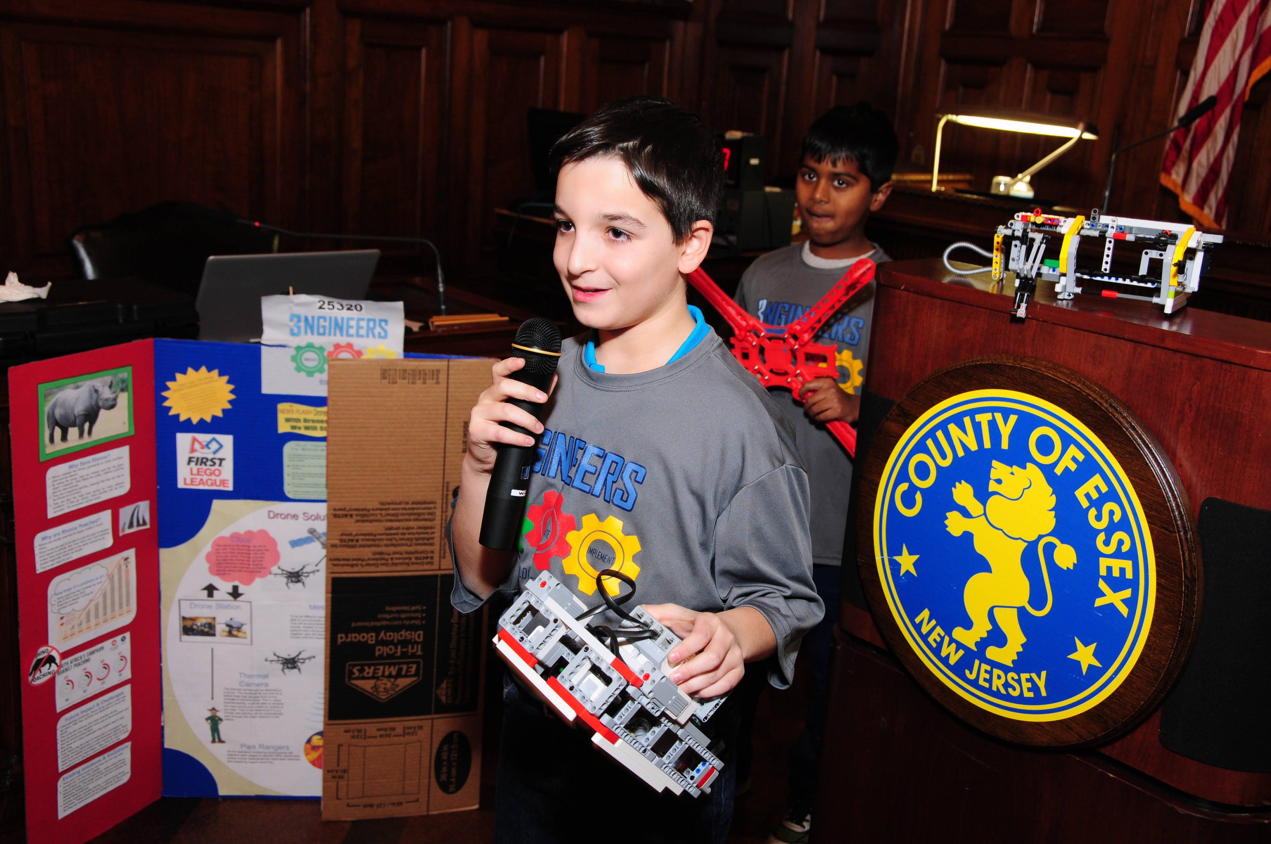 Essex County Freeholders Honor Livingston Robotics Club Teams