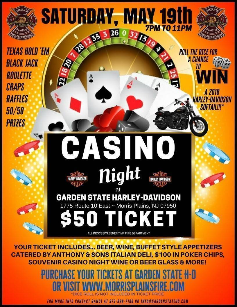 Harley Davidson Hosts Casino Night To Benefit Morris Plains Fire Department News Tapinto