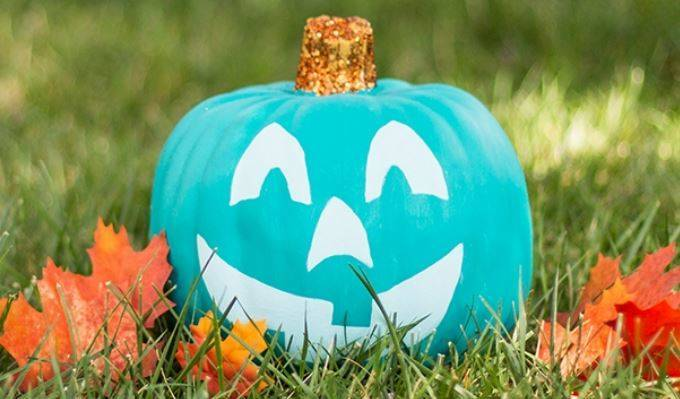 Look for the teal pumpkins